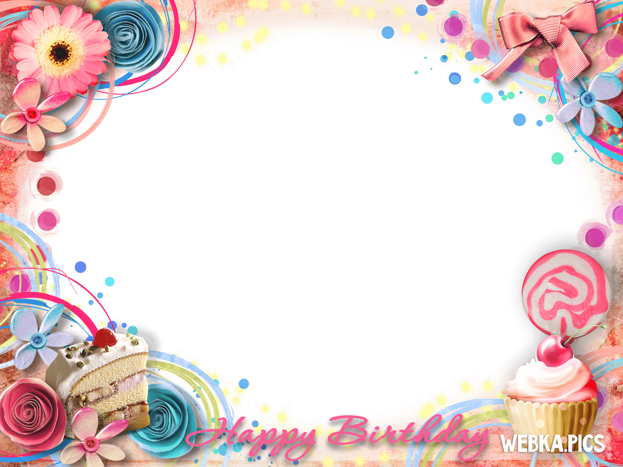 Happy Birthday Frame Png Webka Photo Fra...